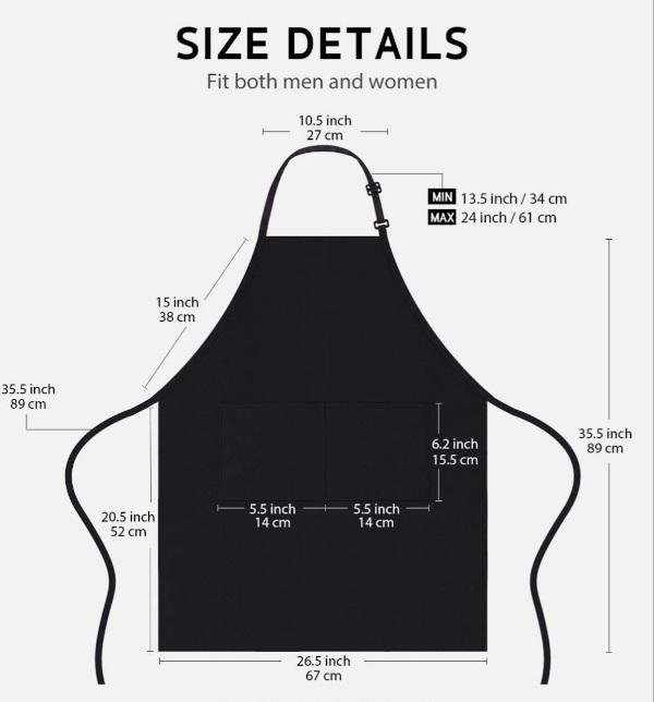 Apron Size Chart