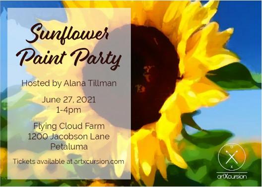 Sunflower Paint Party June 27, 2021